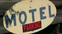 Motel Parking Sign Stock Footage