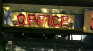 Office No Vacancy Sign Stock Footage