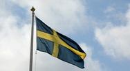 Swedish flag  Stock Footage