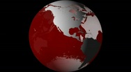Stock Video Footage of Breaking News Globe, Red w/ Alpha (25fps)