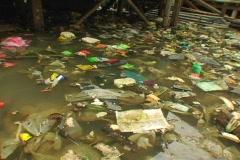 flooded slum trash - stock footage