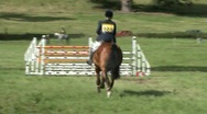 Stock Video Footage of show jumping pan 1