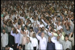Friday Prayers Tehran: Chanting - stock footage