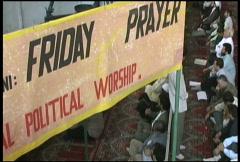 Friday Prayers Tehran: Political Worship - stock footage