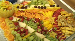 Fruits on Buffet Stock Footage