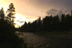 Nature's River Sunset Time Lapse Stock Footage