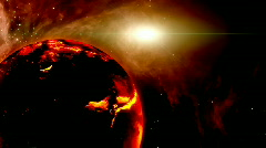 Magma planet Stock Footage