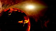 Stock Video Footage of magma planet