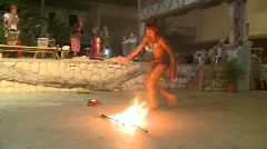 Philippino fire dancer 2 Stock Footage