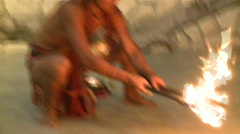 Philippino fire dancer 1 - stock footage