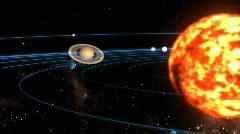 solar system - stock footage