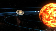 Stock Video Footage of solar system