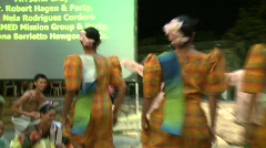 Philippino culture dancing 4 Stock Footage
