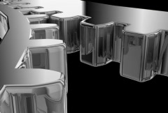Gear CloseUp Chrome and Brushed Stock Footage
