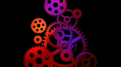 3d Gears engaging Stock Footage
