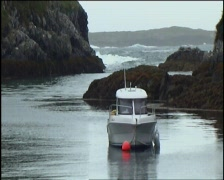 Natural Harbour on Wild Coast Stock Footage