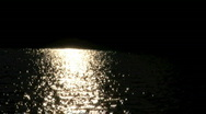 Moon shining on water Stock Footage
