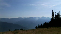 Mountains in the Olympic National Park Stock Footage