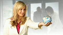 Woman Holding the Earth Stock Footage