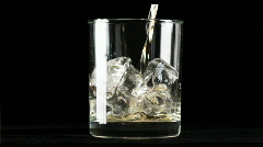 Whiskey on ice - stock footage