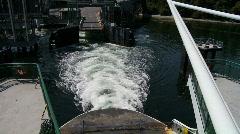 Ferry leaving dock Stock Footage
