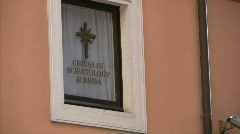Scientology in Rome - Italy - stock footage