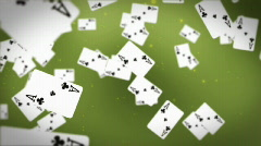Ace cards flying Stock Footage