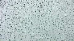 vid052 rain on glass - stock footage