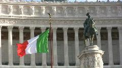Altare della Patria in Rome - Italy Stock Footage