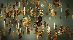 US dollar currency symbol flying Stock Footage