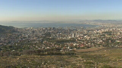 Table Mountain Aerial CableWay up 02 Stock Footage