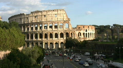 Coliseum in Rome - Italy Stock Footage
