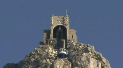 Table Mountain Aerial CableWay up 11 Stock Footage