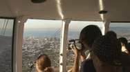 Stock Video Footage of Table Mountain Aerial CableWay up 07