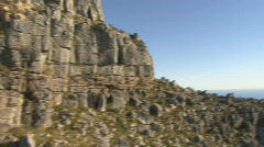 Table Mountain Aerial CableWay up 10 Stock Footage