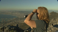 Stock Video Footage of Table Mountain on top 04