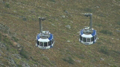 Table Mountain Aerial CableWay passing 02 Stock Footage