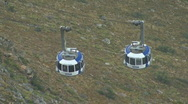 Stock Video Footage of Table Mountain Aerial CableWay passing 02