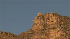 Table Mountain Aerial CableWay down 01 Stock Footage