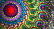 Stock Video Footage of Fractal Candy spiral