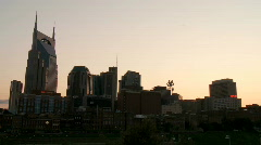 Nashville Skyline Nightfall Time-lapse Composite - stock footage