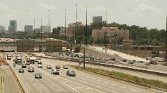 Atlanta I-75 Traffic Stock Footage