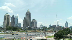 Atlanta Uptown Skyline Wide - stock footage