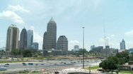 Stock Video Footage of Atlanta Uptown Skyline Wide