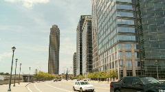 Atlantic Station Streetview, 17th Ave - Atlanta, GA Stock Footage