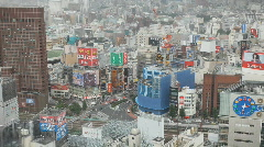 Shinjuku Scenic from above Stock Footage