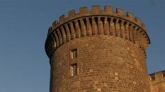 Castle Nuovo Tower Parapet Stock Footage