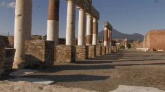 Pompeii Pillars Stock Footage