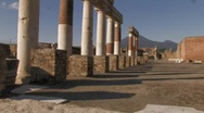 Pompeii Pillars Stock Footage