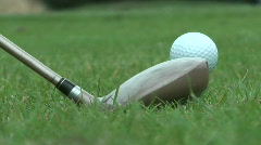 Golf Ball on Tee Stock Footage